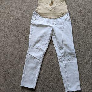 🧡 2 for $12 / white maternity capri jeans